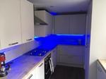 Kitchen Fitters Carlisle - Blue Lighting